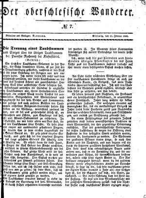 ˜Derœ Oberschlesische Wanderer vom 11.02.1840