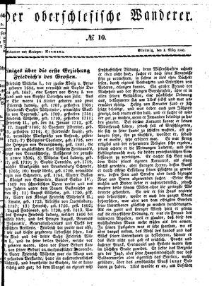 ˜Derœ Oberschlesische Wanderer vom 03.03.1840