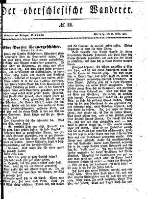 ˜Derœ Oberschlesische Wanderer vom 17.03.1840