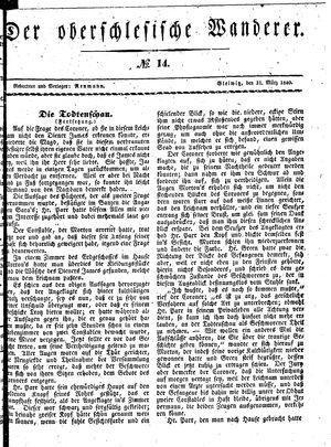 ˜Derœ Oberschlesische Wanderer vom 31.03.1840