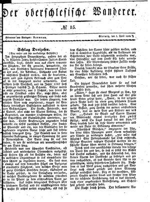 ˜Derœ Oberschlesische Wanderer vom 07.04.1840