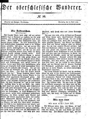 ˜Derœ Oberschlesische Wanderer vom 14.04.1840