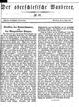 ˜Derœ Oberschlesische Wanderer vom 21.04.1840