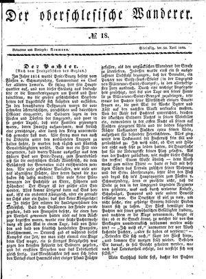 ˜Derœ Oberschlesische Wanderer vom 28.04.1840