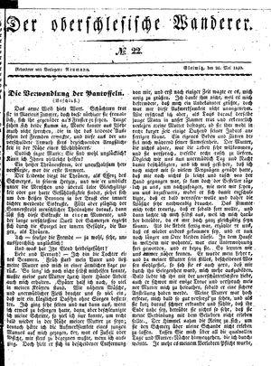 ˜Derœ Oberschlesische Wanderer vom 26.05.1840
