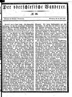 ˜Derœ Oberschlesische Wanderer vom 16.06.1840