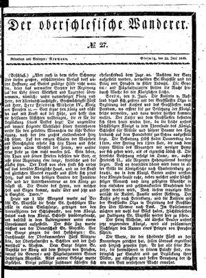 ˜Derœ Oberschlesische Wanderer vom 22.06.1840