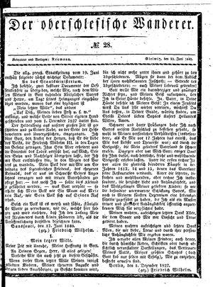 ˜Derœ Oberschlesische Wanderer vom 23.06.1840