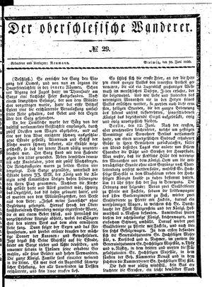 ˜Derœ Oberschlesische Wanderer vom 30.06.1840