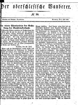 ˜Derœ Oberschlesische Wanderer vom 07.07.1840