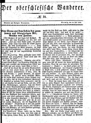 ˜Derœ Oberschlesische Wanderer vom 14.07.1840