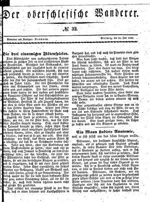 ˜Derœ Oberschlesische Wanderer vom 21.07.1840