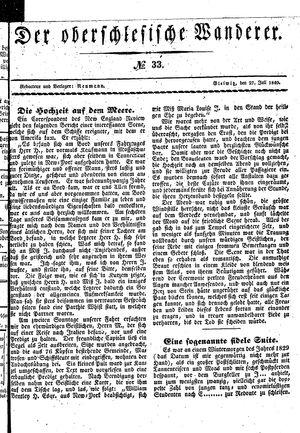 ˜Derœ Oberschlesische Wanderer vom 27.07.1840
