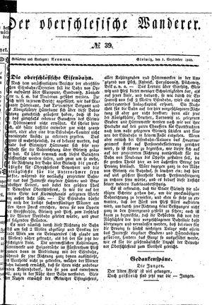 ˜Derœ Oberschlesische Wanderer vom 01.09.1840