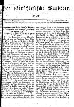 ˜Derœ Oberschlesische Wanderer vom 15.09.1840