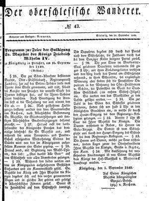 ˜Derœ Oberschlesische Wanderer vom 21.09.1840