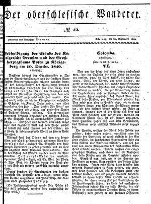 ˜Derœ Oberschlesische Wanderer vom 28.09.1840