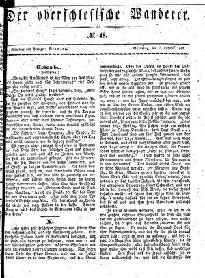 ˜Derœ Oberschlesische Wanderer vom 13.10.1840