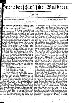 ˜Derœ Oberschlesische Wanderer vom 20.10.1840