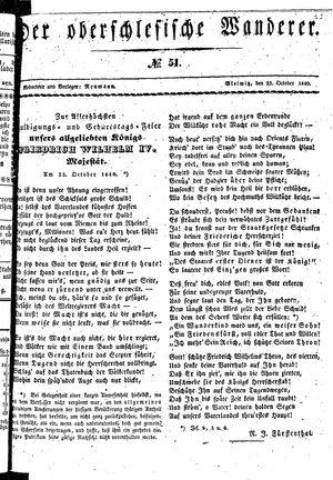˜Derœ Oberschlesische Wanderer vom 23.10.1840