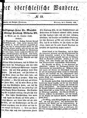 ˜Derœ Oberschlesische Wanderer vom 03.11.1840