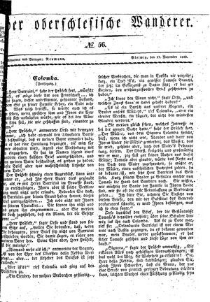 ˜Derœ Oberschlesische Wanderer vom 17.11.1840