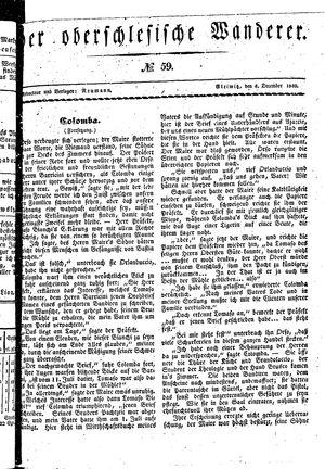 ˜Derœ Oberschlesische Wanderer vom 08.12.1840
