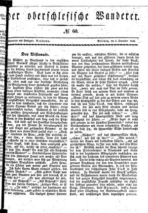 ˜Derœ Oberschlesische Wanderer vom 09.12.1840