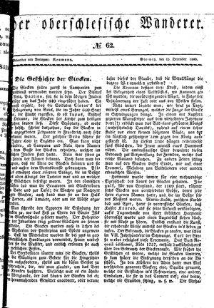 ˜Derœ Oberschlesische Wanderer vom 15.12.1840