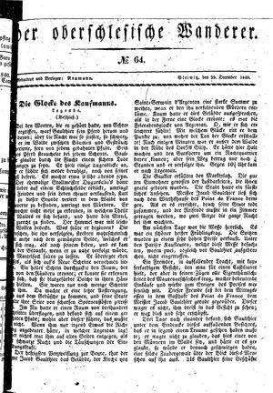 ˜Derœ Oberschlesische Wanderer vom 29.12.1840