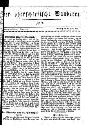 ˜Derœ Oberschlesische Wanderer vom 12.01.1841