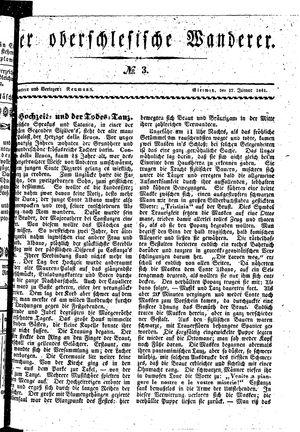 ˜Derœ Oberschlesische Wanderer vom 17.01.1841