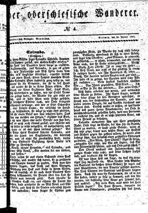 ˜Derœ Oberschlesische Wanderer vom 26.01.1841