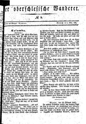 ˜Derœ Oberschlesische Wanderer vom 02.03.1841
