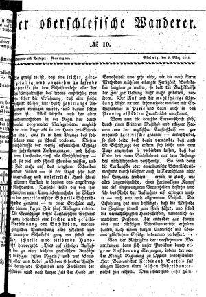 ˜Derœ Oberschlesische Wanderer vom 09.03.1841