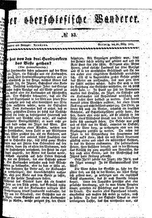 ˜Derœ Oberschlesische Wanderer vom 30.03.1841