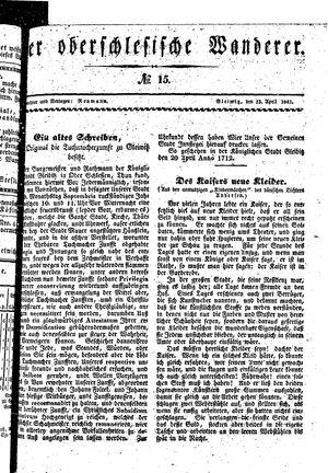 ˜Derœ Oberschlesische Wanderer vom 13.04.1841