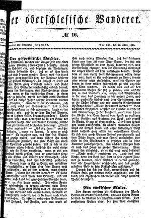 ˜Derœ Oberschlesische Wanderer vom 20.04.1841
