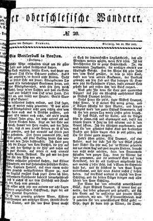 ˜Derœ Oberschlesische Wanderer vom 18.05.1841