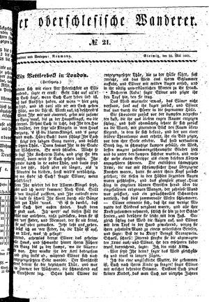 ˜Derœ Oberschlesische Wanderer vom 25.05.1841
