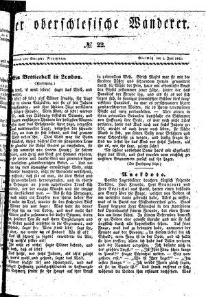 ˜Derœ Oberschlesische Wanderer vom 01.06.1841