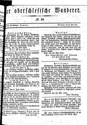 ˜Derœ Oberschlesische Wanderer vom 21.06.1841