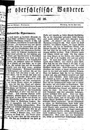 ˜Derœ Oberschlesische Wanderer vom 22.06.1841