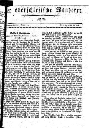 ˜Derœ Oberschlesische Wanderer vom 13.07.1841