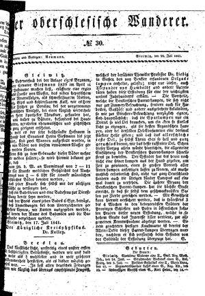 ˜Derœ Oberschlesische Wanderer vom 20.07.1841