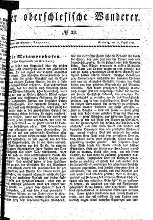 ˜Derœ Oberschlesische Wanderer vom 10.08.1841