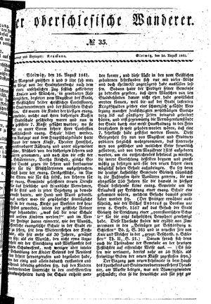 ˜Derœ Oberschlesische Wanderer vom 24.08.1841