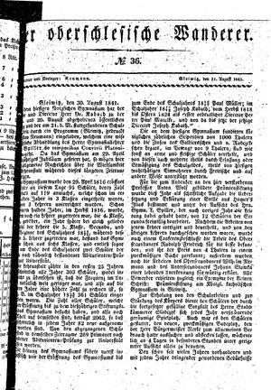 ˜Derœ Oberschlesische Wanderer vom 31.08.1841