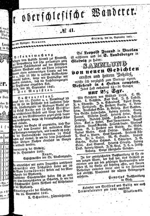 ˜Derœ Oberschlesische Wanderer vom 28.09.1841