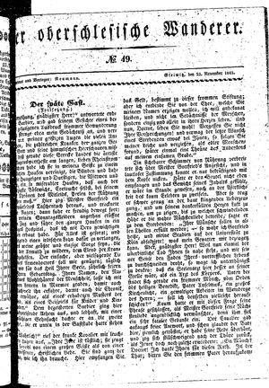 ˜Derœ Oberschlesische Wanderer vom 23.11.1841